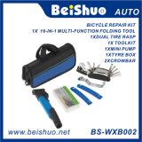 Kit de ciclo de la corrección de la bomba de la herramienta del neumático de la bolsa de herramientas de la reparación de la bici mini