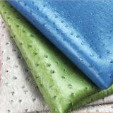 Cuoio sintetico dell'unità di elaborazione nella stampa dello struzzo per tappezzeria, tessuto delle borse