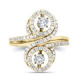 형식 보석 춤 다이아몬드를 가진 925의 은 반지
