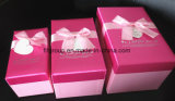 High End Competitive Price Stock Pink Color Nesting Gift Boxes