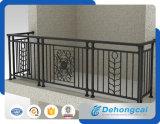 Trilhos contínuos da varanda do metal/cerca de segurança galvanizada do balcão do ferro feito