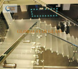 3mm 명확한 물 장식무늬가 든 유리 제품을%s 가진 박판으로 만들어진 유리 + 0.76m PVB + 3mm 공간 플로트 유리