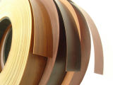 borda de borda de madeira lustrosa elevada do PVC da cor da grão da cor contínua de 0.5*22mm