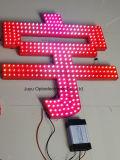 diodo emissor de luz de 6mm/White DC5V que anuncia a corda expor quadro indicador da luz do pixel da letra