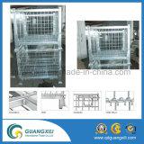 Recipiente de dobramento da gaiola do rolo do engranzamento de fio do metal do armazenamento de 4 lados