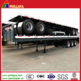 3 assen 20ft 40ft Container Semi Trailer met Flatbed Type