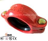 Les garnitures de pipe malléables de fer d'UL/FM/Ce ont cannelé l'accouplement flexible rigide