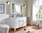 Mobilia moderna di legno solida della stanza da bagno delle contro parti superiori del marmo della quercia del singolo dispersore