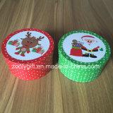Neues Weihnachtsrunder Geschenk-Kasten-kleiner runder Papiergeschenk-Kasten