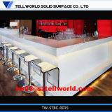 Tw Corian棒カウンター、固体表面の商業ワインバーの家具