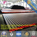 Tubo de acero de carbón de ERW con la capa externa 3PE para el transporte flúido