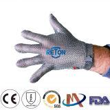 Couper les gants à chaînes de maille du niveau 5 de gants résistants de courrier à chaînes