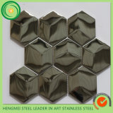 Toilet Wall Decoration를 위한 가격 List Offer 304 Hairline Stainless Steel Mosaic Tiles