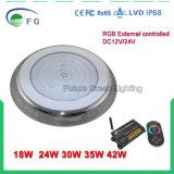 316 luz llenada resina de la piscina de los Ss IP68 RGB LED con muchos clase del modelo controlado