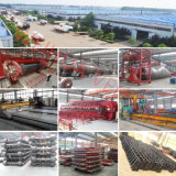Fuwa 3개의 차축 알루미늄 합금 부피 시멘트 유조 트럭 트레일러 60cbm