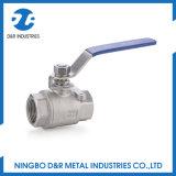 Dr. 1015 2PC CF8m mittleres Druck-Edelstahl-Kugelventil