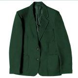 Las muchachas y los muchachos ajustaron la chaqueta de la chaqueta del uniforme escolar