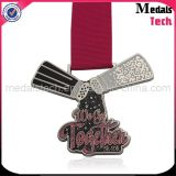 Черный никель покрыл изготовленный на заказ медали дня рождения отделки яркия блеска металла