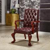 포도 수확 작풍 임금과 가진 Thrones Chair Shape (SP-HC059) 나무로 되는 여가 의자