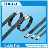 4.6*150mm Edelstahl-Kabelbinder der vollen Beschichtung-Ss304