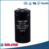 Broche de presión en el condensador electrolítico de aluminio