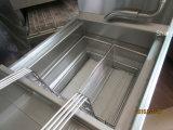Matériel de cuisine électrique et friteuse profonde de gaz pour des puces