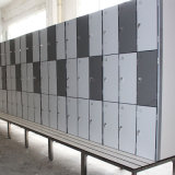 Perfil de aluminio de encargo HPL Locker para el supermercado