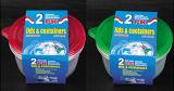 Plástico redondo para llevar Contenedor de alimentos para microondas 48oz