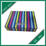 Obrigado caixa de presente de empacotamento colorida do cartão