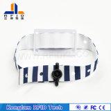 Wristband Braided di una volta personalizzato di RFID per l'inseguimento del pacchetto