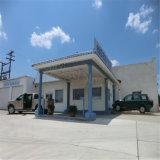 Helle Stahlrahmen-Tankstelle verschüttet mit Qualität