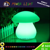 Lâmpada de tabela decorativa impermeável colorida do diodo emissor de luz do cogumelo