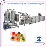 Linha de depósito dos doces deliciosos da geléia que faz a máquina do equipamento para a venda