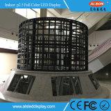 HD P2.5 풀 컬러 홀 건축을%s 실내 발광 다이오드 표시 스크린 위원회