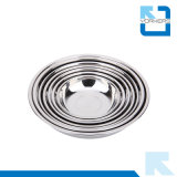 Hot Sale épaississant Deep Stainless Steel Dinner Soup Plate & Dish Plate