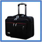 Классический черный мешок вагонетки дела, Nylon мешок багажа перемещения, напольный чемодан с колесами