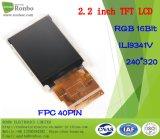 2.2 moniteur de TFT LCD de pouce 240*320 RVB, Ili9341V, 40pin avec le panneau de contact d'option