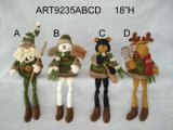 Camoサンタ、スノーマン、トナカイおよびくまの付き添い、クリスマスの装飾
