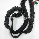 tessitura di nylon nera dell'ammortizzatore ausiliario di 25mm per i guinzagli ritrattabili dell'animale domestico