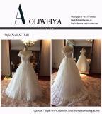 Линия/Princess с Neckline Tulle плеча/платьев венчания шнурка Bridal