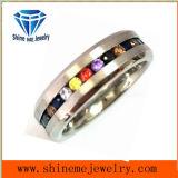 Anillo colorido de Jewellry del acero inoxidable del Zircon de la joyería de Shineme