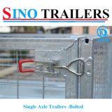 Remorques de cage boulonnées par essieu simple avec l'excellente qualité
