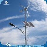 Iluminação de rua solar do diodo emissor de luz do vento horizontal do gerador do Pmg da turbina da linha central