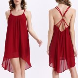 Form-Frauen-reizvolles Backless Küste-Strand-Beleg-Kleid