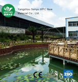 Revestimento de madeira da grão WPC do furo redondo