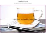 減量ボディ食事療法の茶を混ぜる細い緑茶のハーブのための自然な草の細くの茶