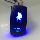 Interruttore basculante automatico dell'automobile con l'indicatore luminoso di Sasquatch
