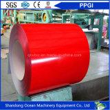 Las bobinas galvanizadas prepintadas favorables al medio ambiente/color de las bobinas/PPGI del acero cubrieron las bobinas de acero galvanizadas para el material de material para techos