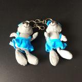 Brinquedo reflexivo vestido azul do luxuoso do urso bonito para a promoção