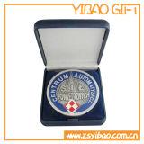 金属は遊ばすカスタマイズされた3Dロゴの彫版(YB-MD-11)が付いているメダルを